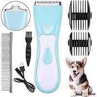 Seanme Upgrade Waterproof 2 in 1 Pet Grooming Kit with Double Blades