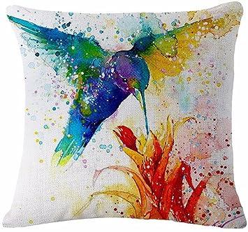 Amazon.com: Funda de almohada de acuarela con diseño de ...