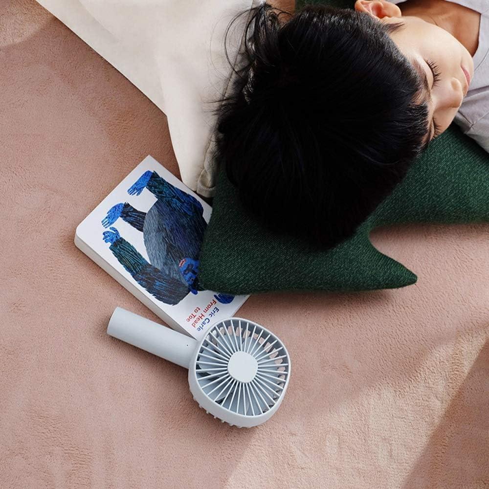 Color : B Small Fan Shaking Head Handheld Fan USB Portable Rechargeable Fan Mini Desktop Office Mute 5V 1A 6W Handheld Fan BLWX