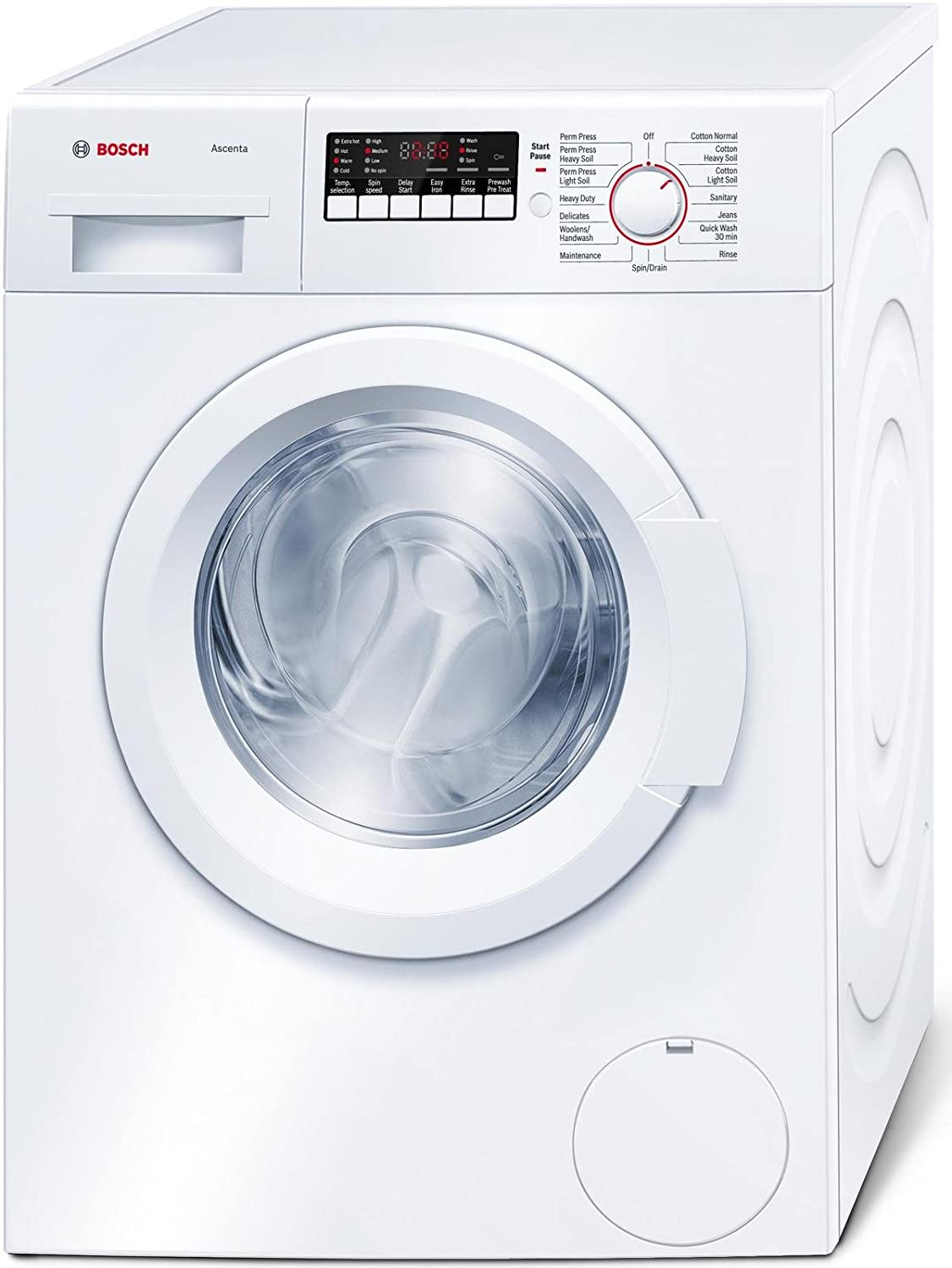 Amazon.com: Bosch WAP24200UC 300 2.2 Cu. Ft. White Stackable Front Load  Washer - Energy Star: Appliances