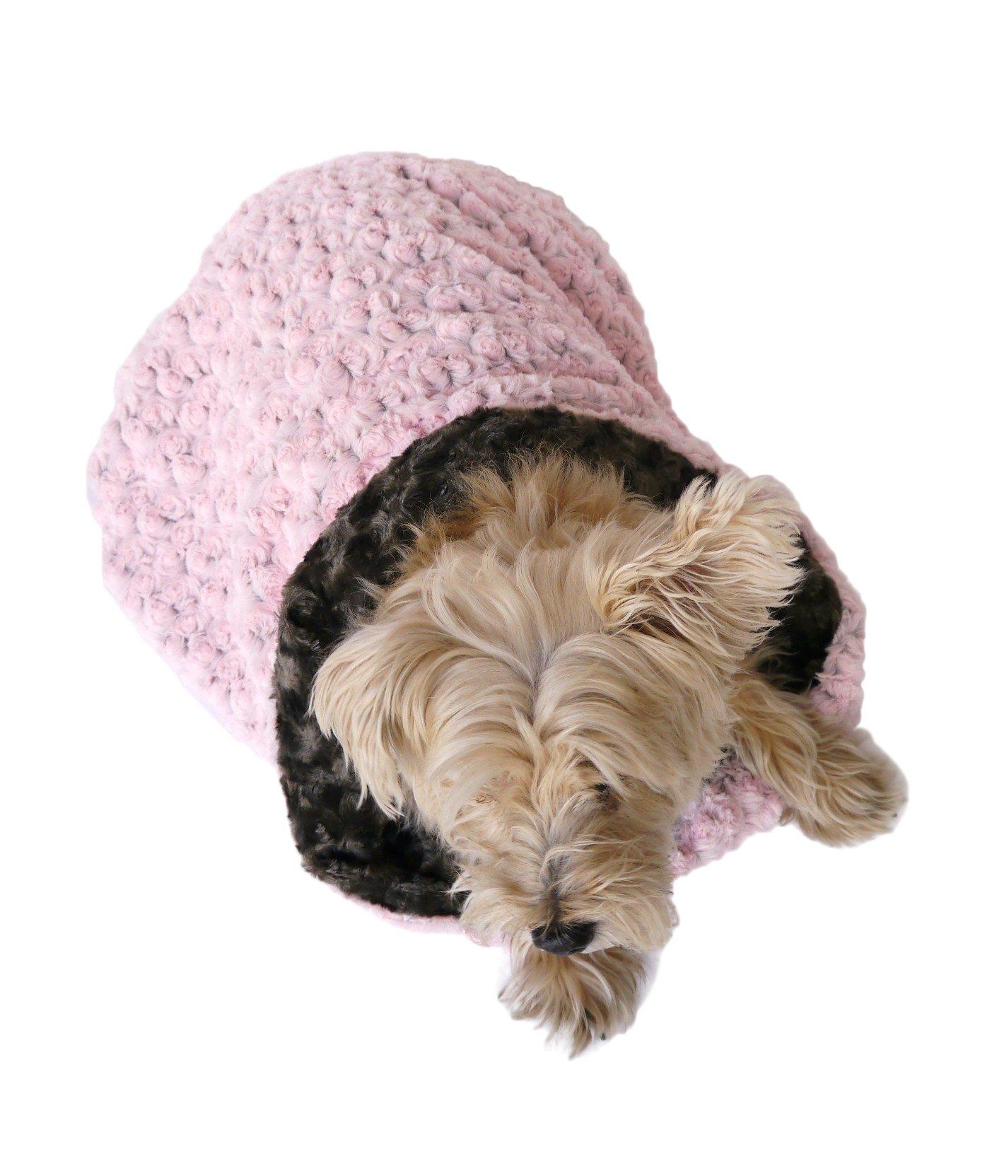 Cozy Sak Plush, Pink/Grey Two Toned Rosebud by The Dog Squad