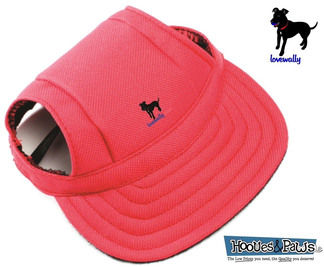 LoveWally Dog Outdoor PET Hat RED ♦ Adjustable Authentic (Large)