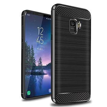 XvDsu Funda Samsung Galaxy A6 Plus 2018, duradera carcasa resistente a golpes de armadura cubierta de diseño delgado de fibra de carbono para Samsung ...