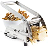 AirFry Mate, Stainless Steel French Fry Cutter, Commercial Grade Vegetable and Potato Slicer, Includes Two Blade Size…