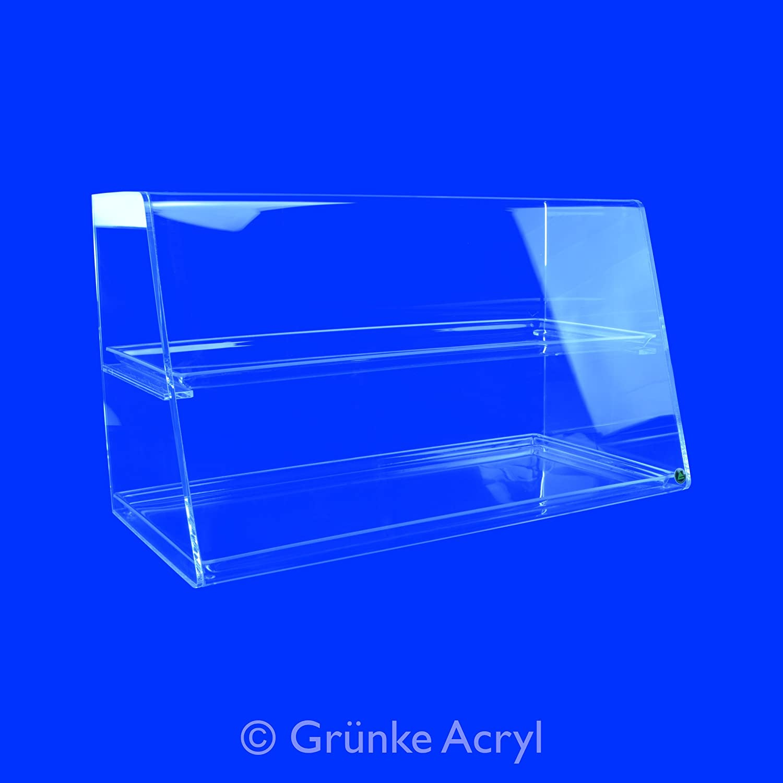 Grünke Thekenaufsatz Nr. 2 Acryl Premium 60cm Breit Spuckschutz Vitrine Hustenschutz Greifschutz Niesschutz (60cm) A+S Grünke Kunststoffe GmbH