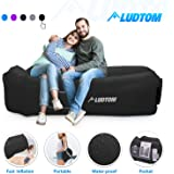 LUDTOM Inflatable Lounger Air Sofa Hammock, Portable Waterproof Anti-Air Leaking Pouch Couch Air Chair Camping…
