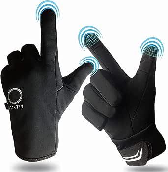Winter Gloves Men Women Touchscreen Waterproof, Running Cycling Liner Fleece Pair