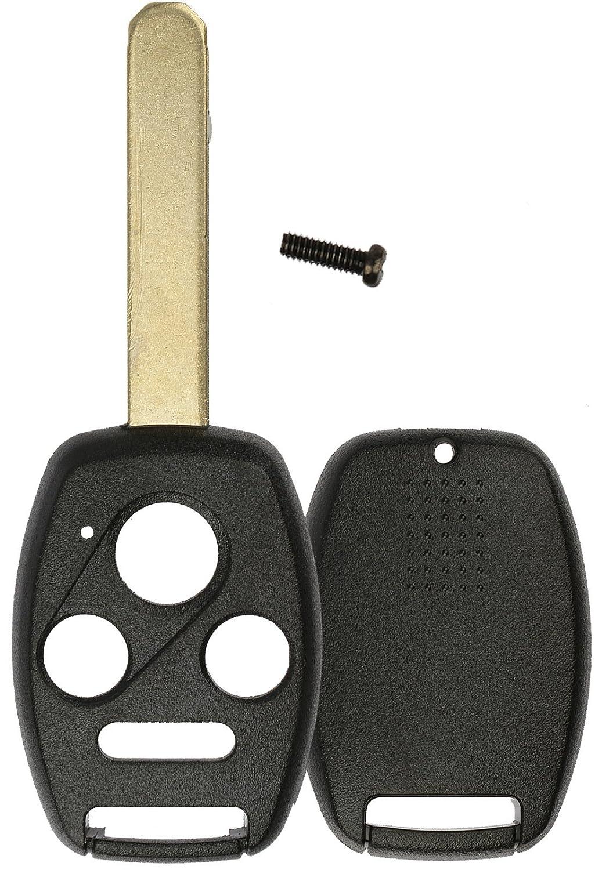 KeylessOption Just the Case Keyless Entry Remote Key Fob Shell Cover Blade For Honda Accord CR-V