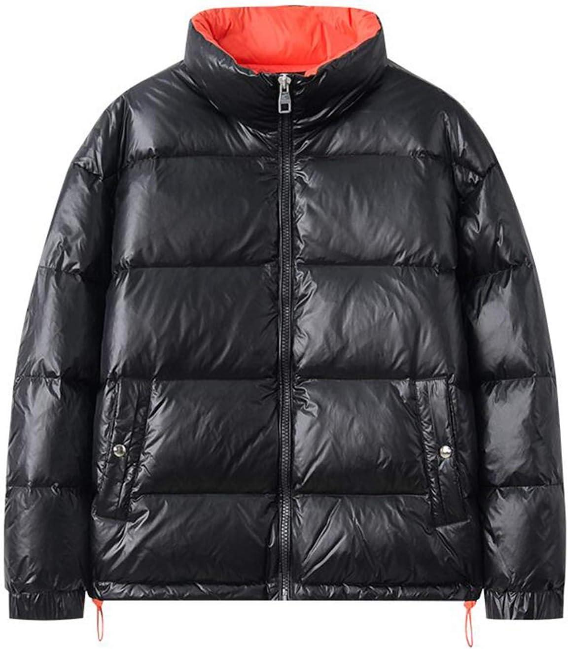 Chaqueta brillante brillo abajo los hombres del invierno, el 90% de enganche contenido Collar sólido soporte de color engrosada chaqueta caliente hacia abajo, tendencia de la moda del color del contra