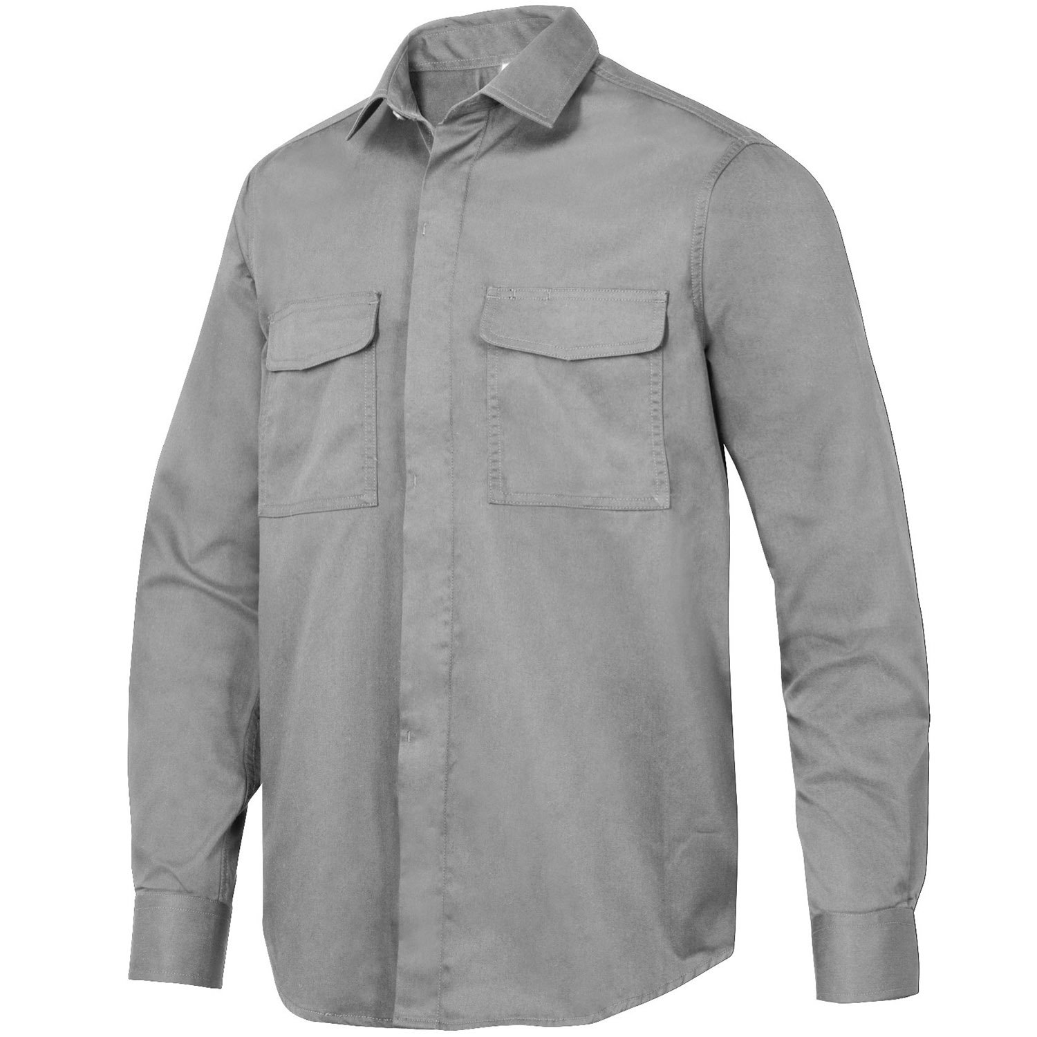 Snickers 85101800005 Size Medium Service Long Sleeve Shirt - Grey