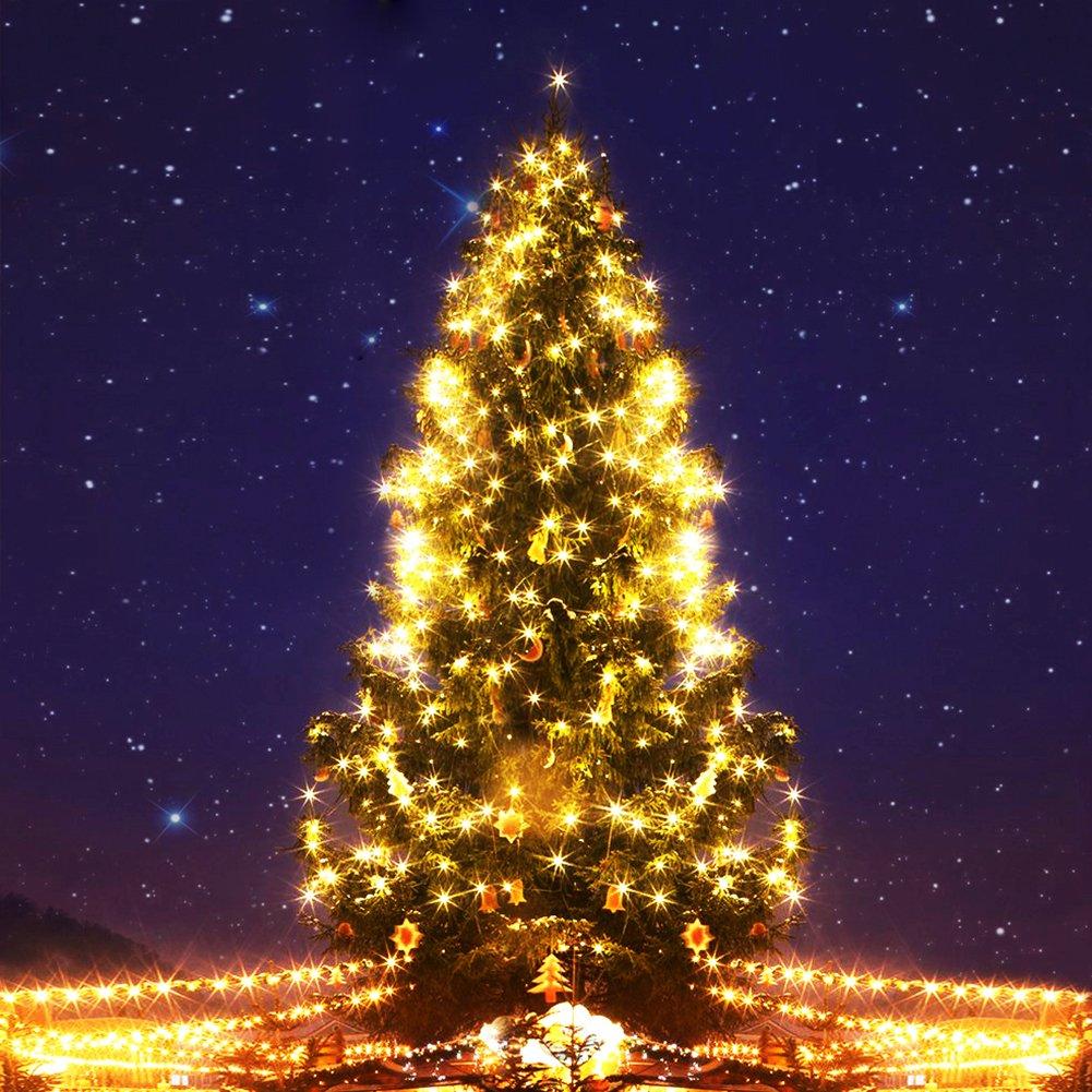 Navidad 2 Pack Guirnalda luces pilas,decoracion con luces navide/ñas,10 m//33ft 100 LED 8 Modos cobre resistente al agua Luz Cadena para fiestas Halloween Jard/ín bodas.