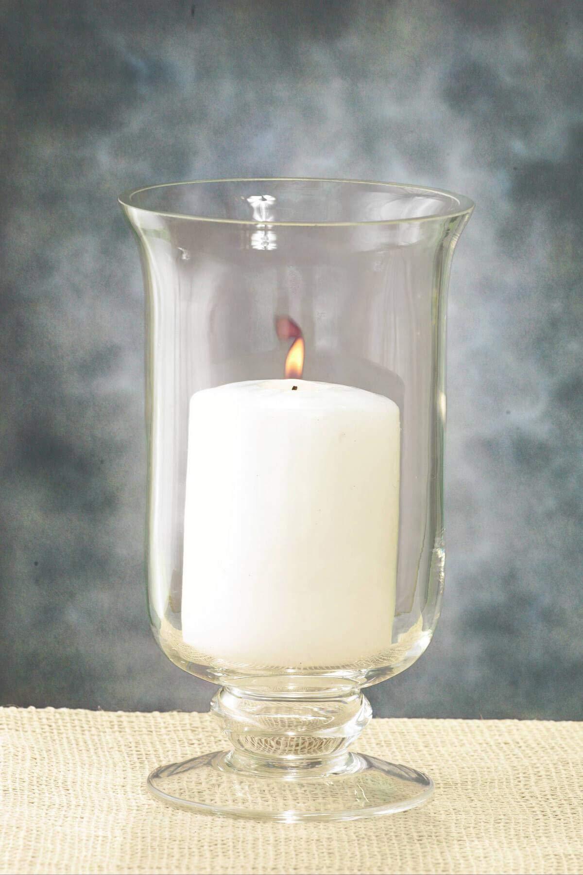 Richland Hurricane Vase & Candle Holder 8'' Set of 6