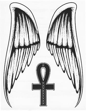 Amazon Angel Wings Egyptian Ankh Cross Symbol Large