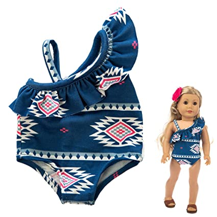 Baby Doll Clothes Cute Swimsuit Suit Fit Infant Baby 18 inch Doll Accessories