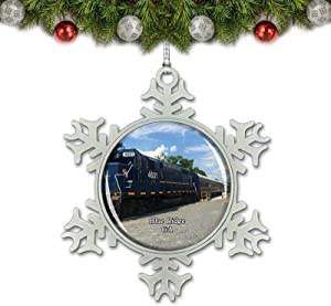 Umsufa Blue Ridge Train Georgia USA Christmas Ornament Tree Decoration Crystal Metal Souvenir Gift