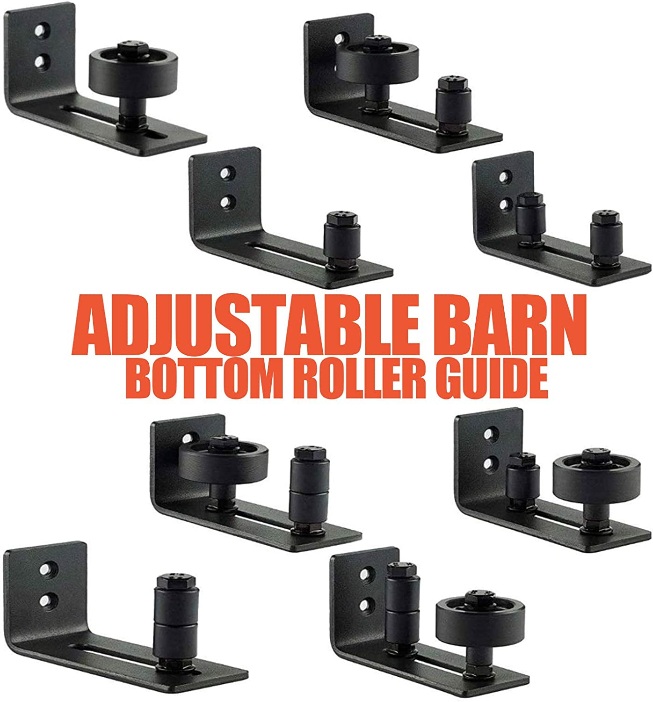 R/éduit lamortissement des vibrations pour placard garage Kit de rails de porte coulissante pour porte coulissante 8 en 1 atelier int/érieur et ext/érieur