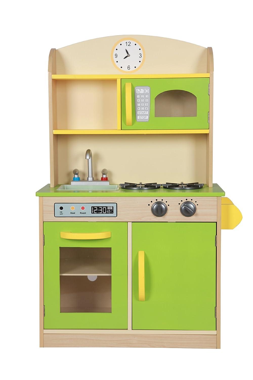 teamson kids  wooden deluxe play kitchen green  pretend play  - teamson kids  wooden deluxe play kitchen green  pretend playamazoncouk baby