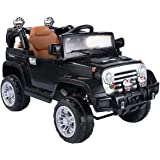 Costway Kids Ride On Car 12V Electric Battery 4CH Remote Control Jeep Toys MP3 (Black)