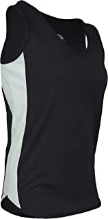 product image for PT-980W-CB Women's Cut Single Ply Light Weight Dash Singlet-Moisture Management and Odor Prevention Technology-Triathlons, Marathons, Track, and Field Events (X-Large, Black/White/Black)