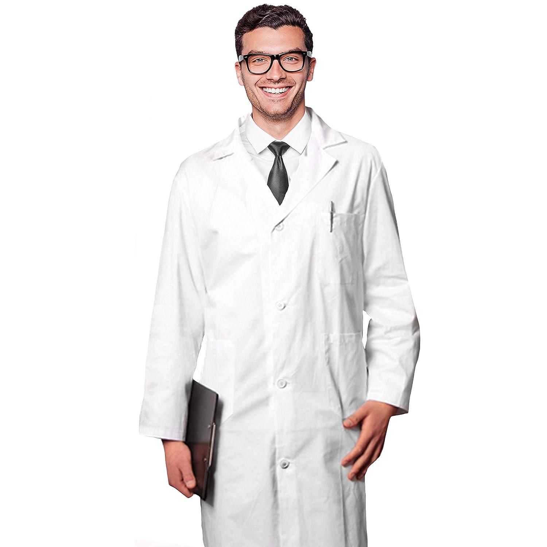AIESI Blouse de docteur laboratoire pour homme 100% coton blanc sanforisé MADE IN ITALY taille 50