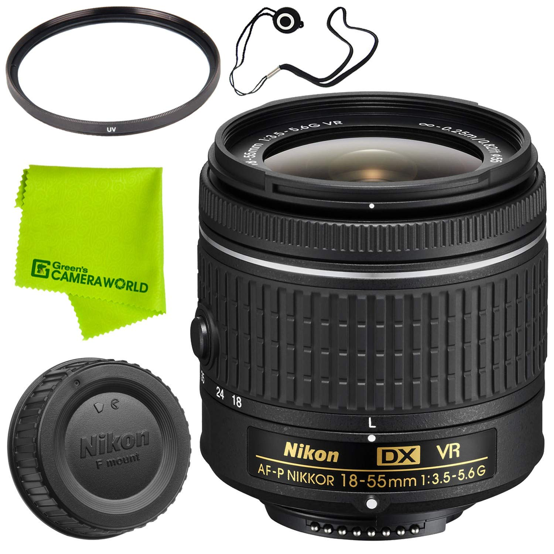 Nikon af-p DX Nikkor 10 – 20 mm F / 4.5 – 5.6 G VRレンズ+ 72 Mm Uvフィルタ+ FiberCloth +レンズcapkeeper70in monopoddeluxeクリーニングキットバンドル B07C7FBZ5M Base|18-55MM P 18-55MM P Base