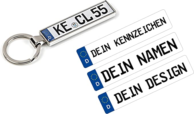 Schlüsselanhänger Mit Ihrem Kfz Kennzeichen Und TÜv Plakette Aufkleber Personalisiert Geschenk Mann Frau Freund Freundin Mama Papa Auto