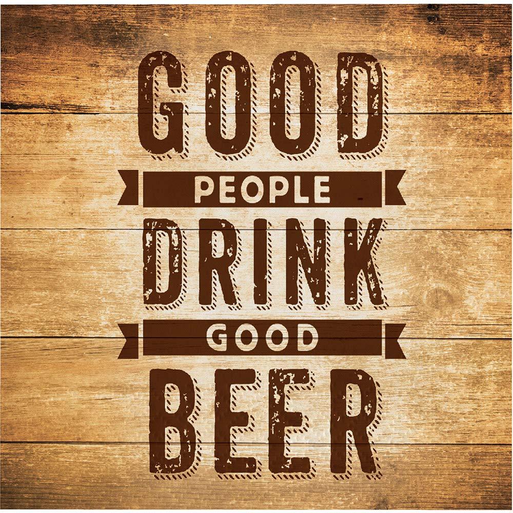 クラブパック192ダークブラウンとゴールドの乾杯& Beers Beverage Napkin Beer Quote 5