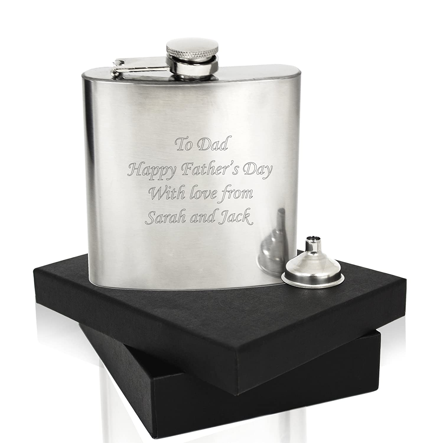 laser engraved personalised hip flask great wedding thank you gifts