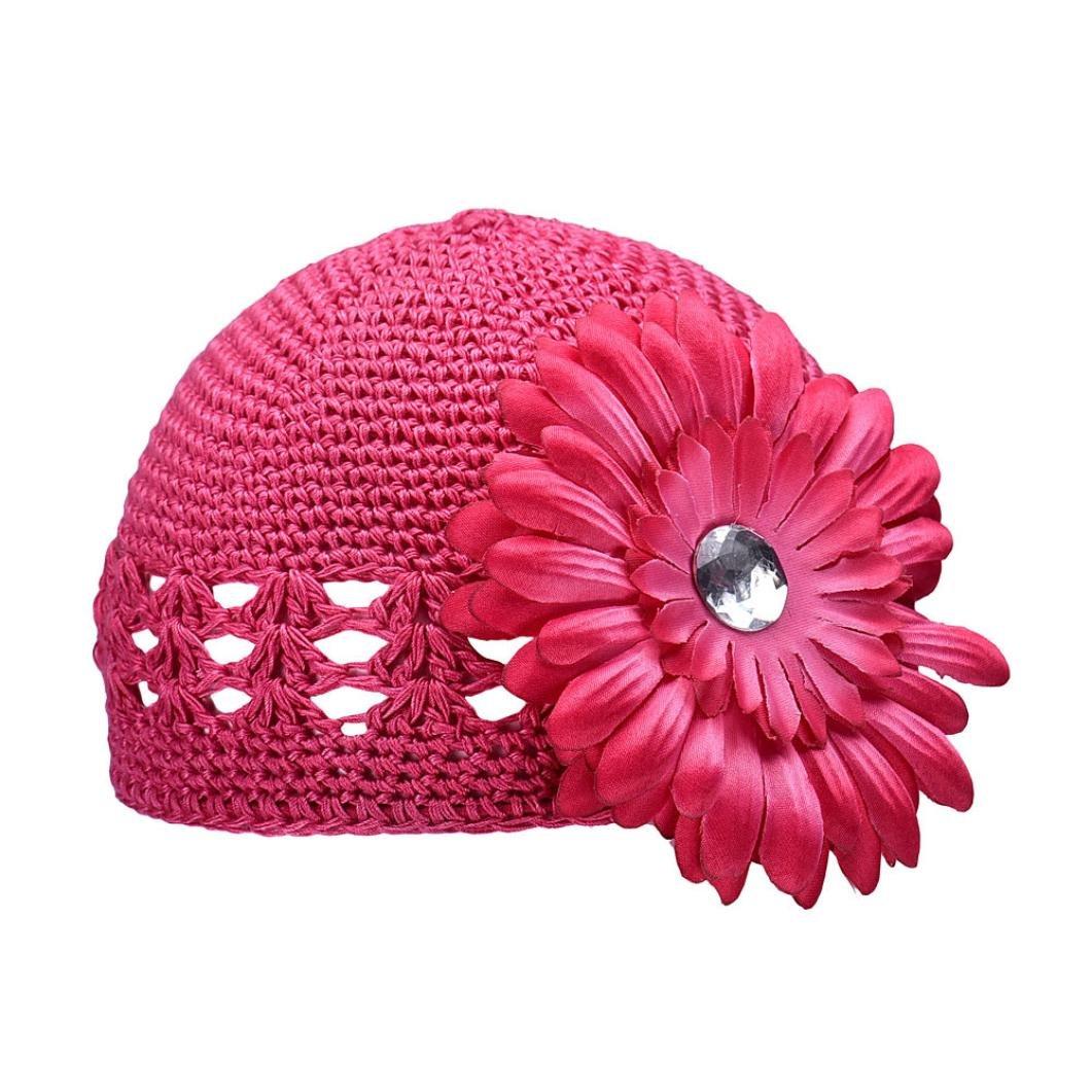 Amlaiworld Le bonnet fleur chapeaux bonnets de bébé fille bébé automne hiver