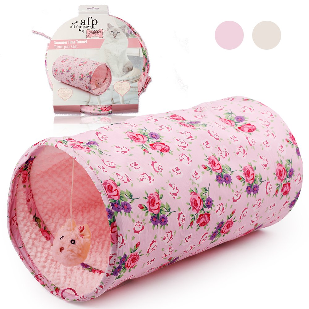 ALL FOR PAWS AFP Crinkle Cat Tunnel Cat Toys (Shabby Chic) by ALL FOR PAWS (Image #3)