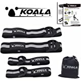 Koala Bands | Flexible premium bands comfortable for blood flow restriction training | BUNDLE PACK OF 4 ( 2 bicep bands ) ( 2 leg bands ) | Comes with portable bag