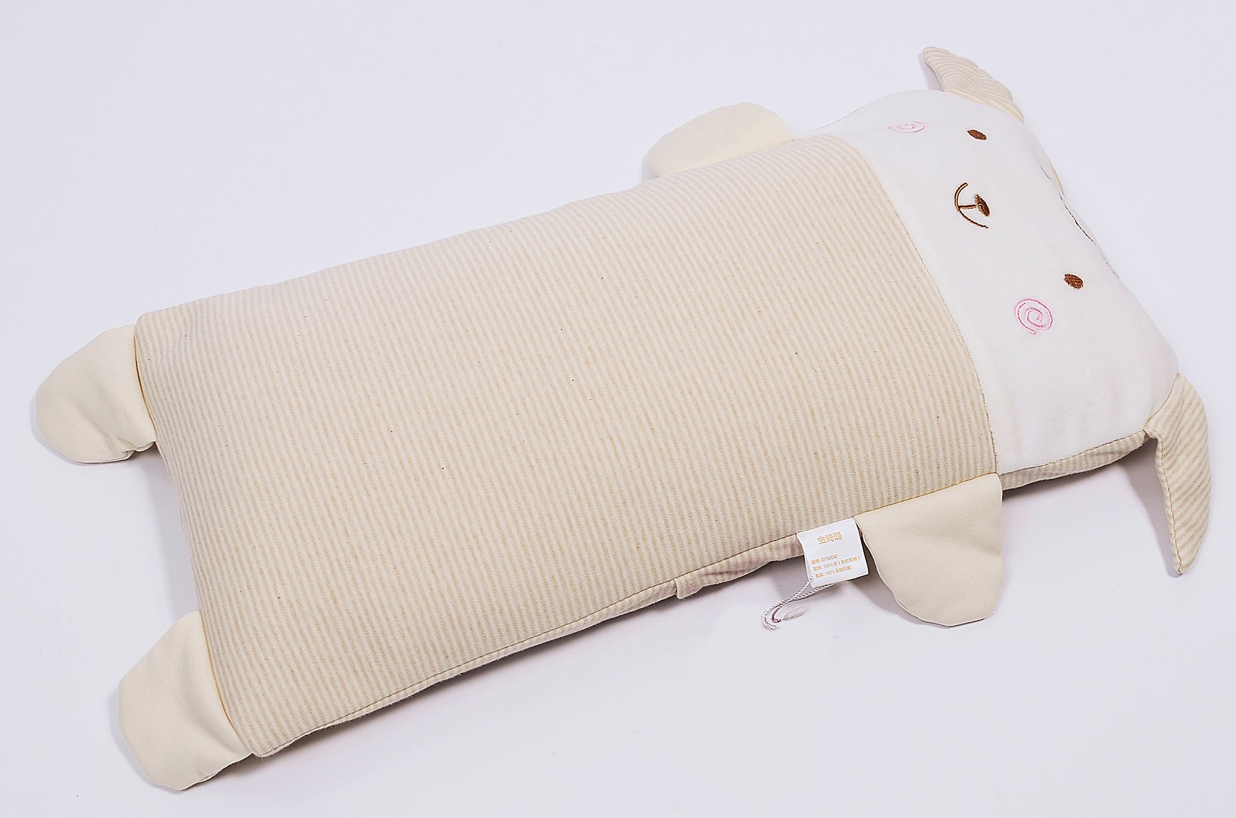Baby Pillows Light Head Support Sleeping Breathable Organic Silk Cotton With Zipper To Prevent Flat Head (>2y)