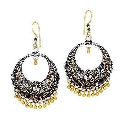 Buy Maitreya Wonder Oxidised Plated Color Brass Earrings Jewellery