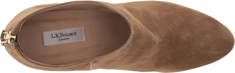 L.K. Bennett 38.5 Women's Emily Ankle Boot B07B6BJ23P 38.5 Bennett M EU|Biscuit Suede cc2210