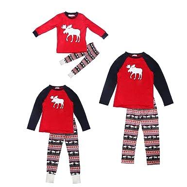 evaliana family christmas pajamas sets women men kids deer sleepwear nightwear at amazon womens clothing store