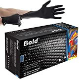 Aurelia - Bold - Single Use Nitrile Powder-free Black Examination Gloves (100 Units)