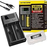 Nitecore - Caricabatterie New i2 per batterie agli ioni di litio/IMR/Ni-MH/Ni-Cd 266502265018650184901835017670175001733516340RCR1231450010440AA AAA AAAA