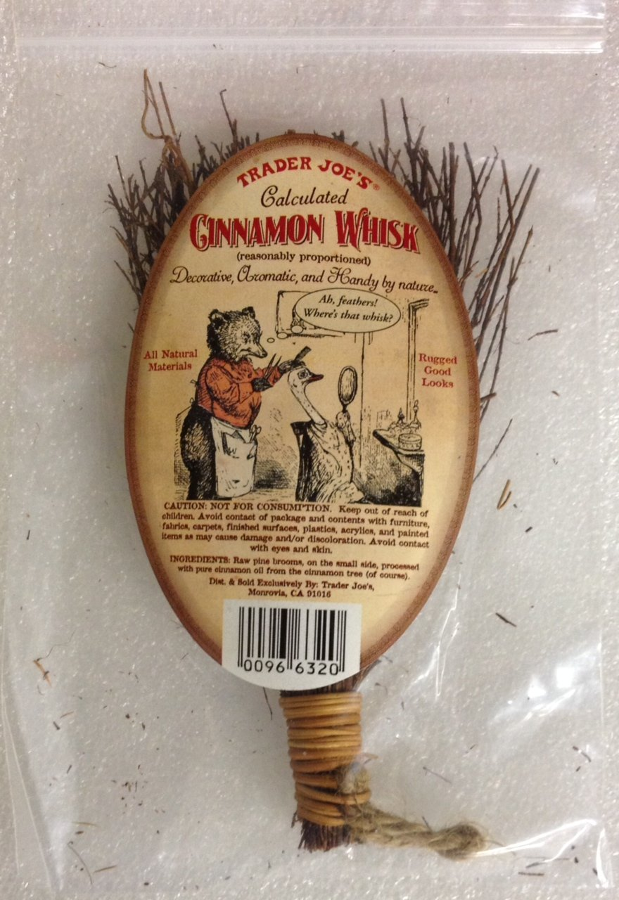 Trader Joe's Cinnamon Whisk - Decorative, Aromatic, and Handy By Nature!