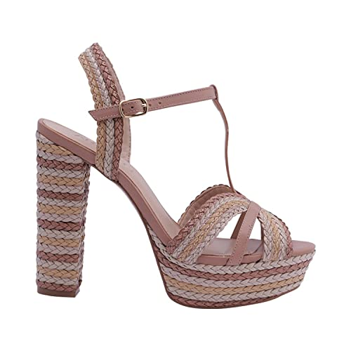 AREZZO - Sandalias de Vestir para Mujer Marrón Size: 39 EU