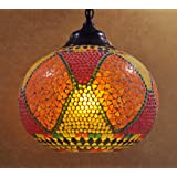 HND00468 Designer Indian Traditional Home Decorative Glass Hanging Lamps