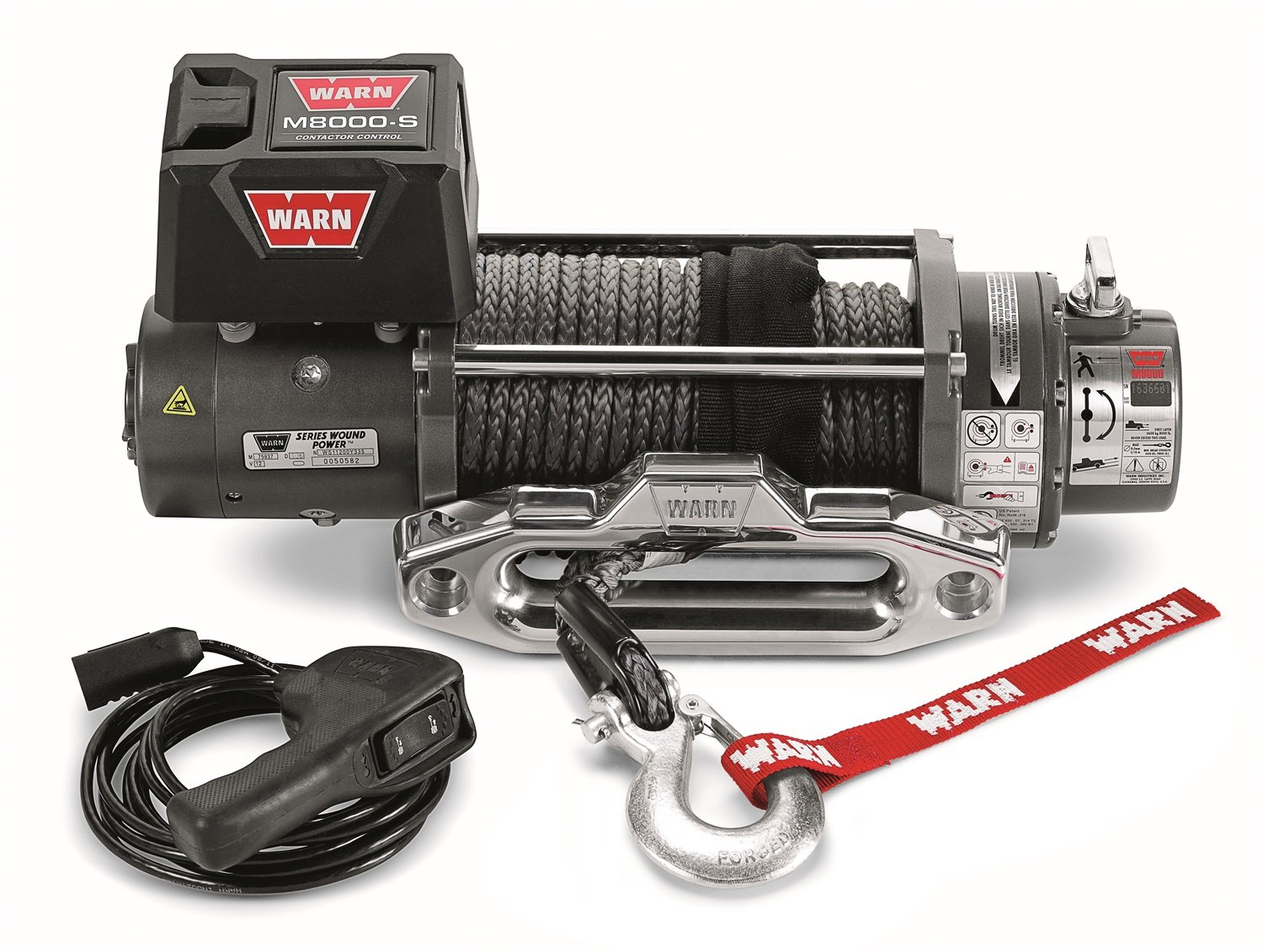 Warn 87800 M8000 S Winch With Synthetic Rope Automotive 8000 Wiring Diagram