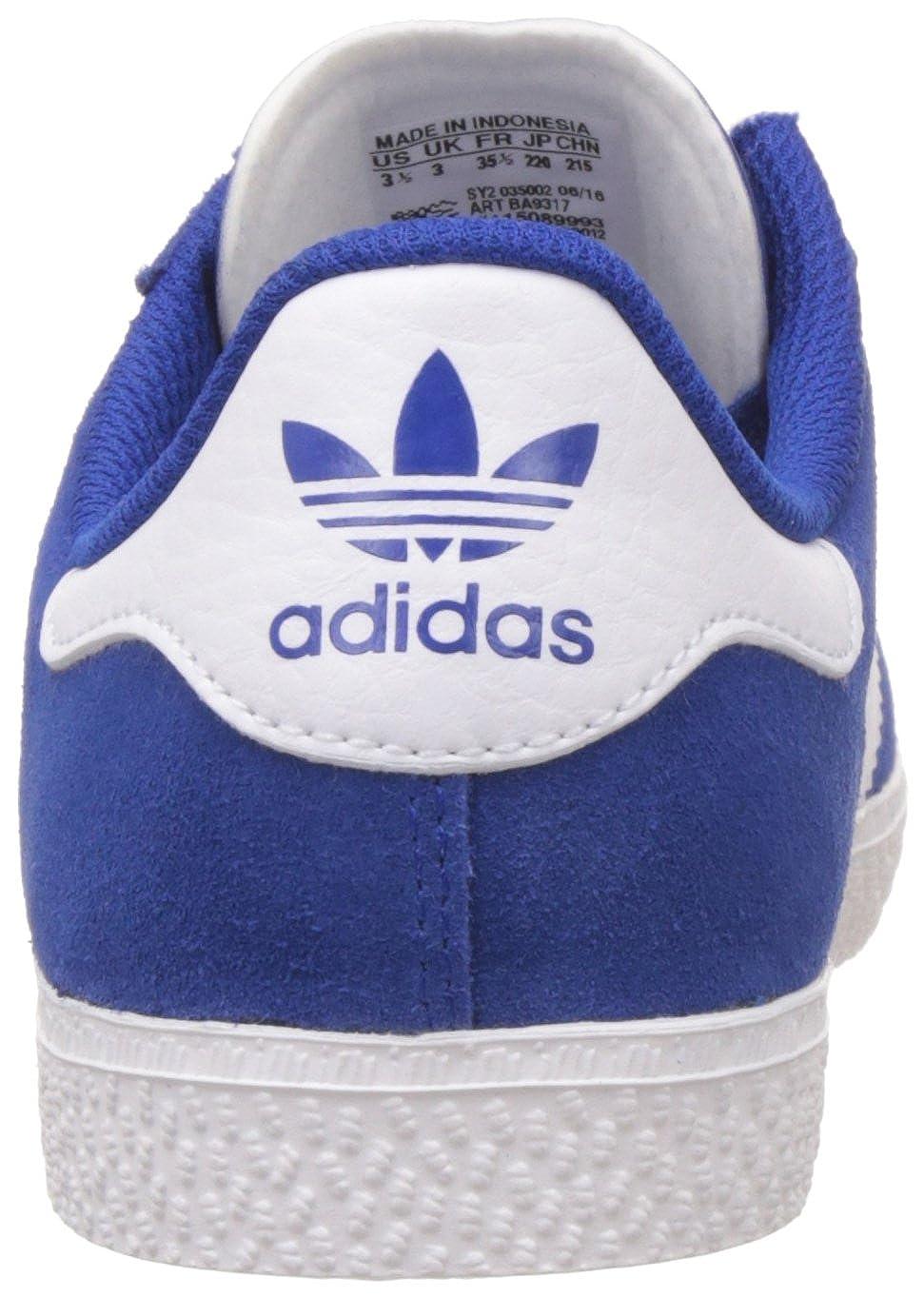 brand new dfe55 8867c Amazon.com  adidas Originals Gazelle 2 J Kids Sneaker Blue BA9317, Size36  23  Sneakers