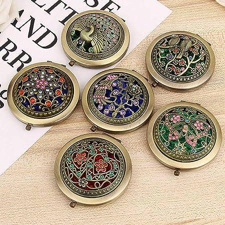 1 Stück Mini Durchmesser 7 Cm Tasche Tragbare Make-up Kosmetikspiegel Gelegentliche Farbe Compact Metall Spiegel Glas Spiegel Haut Pflege Werkzeuge