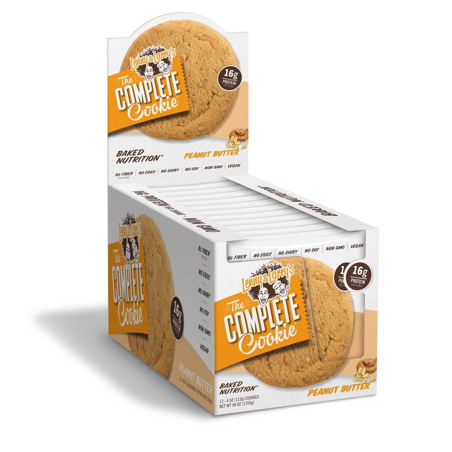 Lenny & Larry's The Complete Cookie! (4 oz. Cookie, Pack of 12, Peanut Butter)