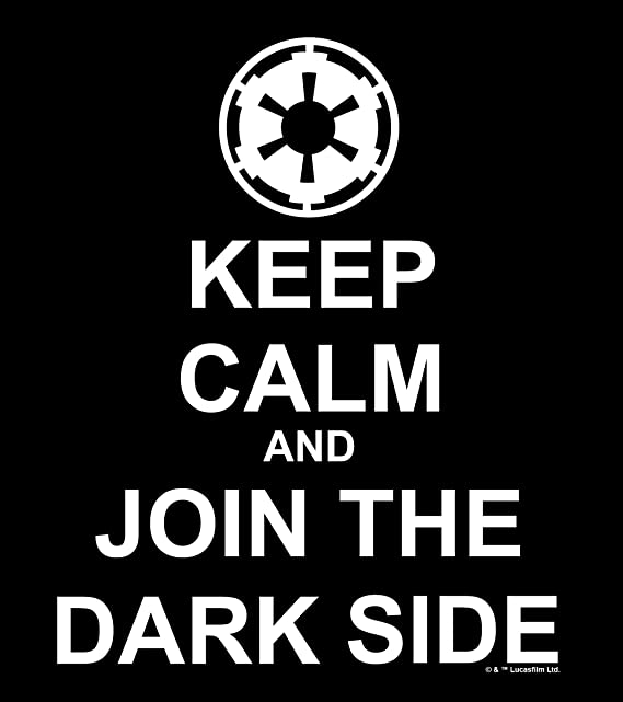 Amazon.com: Chroma 40019 Star Wars Keep Calm and Join The Dark Side Die Cut Decal: Automotive