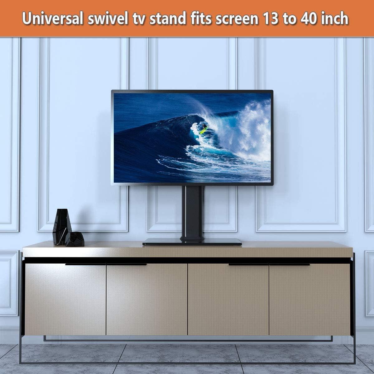Soporte de TV giratorio universal / base de mesa Soporte de TV para televisores de 19 a 39 pulgadas con giratorio de 100 grados, altura ajustable de 4 niveles,capacidad hasta 35kgs: Amazon.es: Electrónica