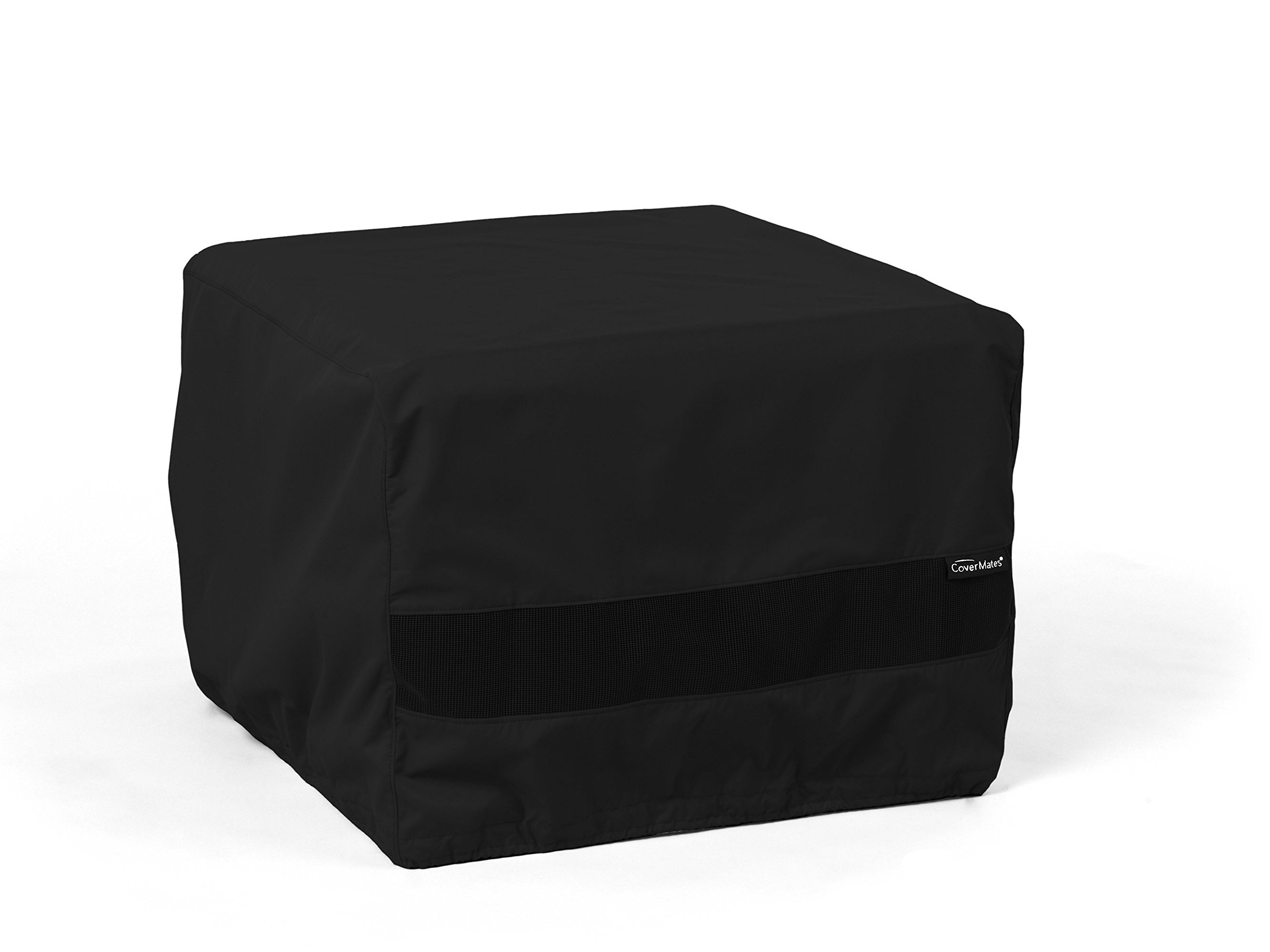 CoverMates – Square Firepit Cover – 36W x 36D x 25H – Elite Collection – 3 YR Warranty – Year Around Protection - Black
