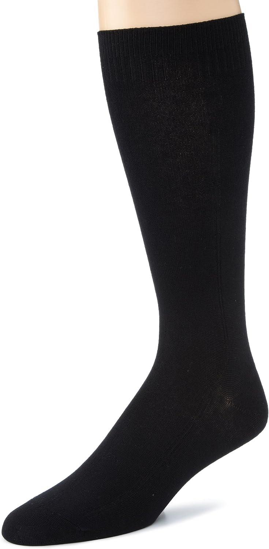 Dr. Scholl's Men's 2 Pack Non-Binding Flat Knit Rib Crew Socks