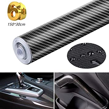 6D Carbon Fibre Vinyl Car Stickers Self-Adhesive Waterproof Bubble-Free Eagool Car Stickers Suitable for Appearance /& Interior of Motorcycles Computers Cars 150 x 30 cm
