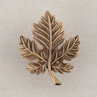 product image for Acorn Manufacturing DQ4GP Artisan Collection Leaf Knob44; Museum Gold